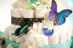 Tort z dziecięcych pieluszek