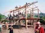 drewniany szkielet domu